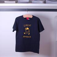 GREAT ANTONIO KIDS tee-shirt(white/navy)