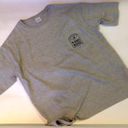 """""""KAMINOGE WRESTLING MAGAZINE"""" tee-shirt (mix-gray)ポケット付"""