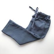 【送料無料】ribbon pants (blue gray)