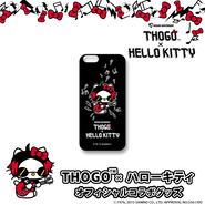 THOGO×ハローキティ コラボ iPhone 6 ケース(黒)