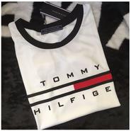 トミー tommy   腹出しTシャツブラックとホワイト選択 \XLM5119