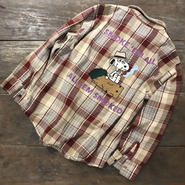 "LOT, STOCK AND BARREL VINTAGE FLANNEL SHIRTS WITH CHAINSTITCHING  ""SPIKE"""