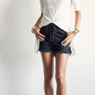 jonnlynx  lace up shorts