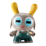 "Buck Wethers 8"" Dunny Kidrobot Exclusive ""WHITE"" by Amanda Visell"