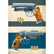 Tomenosuke Blaster poster set by Jakob Staermose