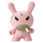 "Hate - Pink 8"" Dunny by Frank Kozik"