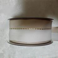 ドイツ製りぼん ベージュ ホワイト 1メートル