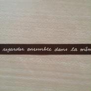 文字プリント リボン 9ミリ 1メートル 茶色