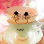 baby bee bijou pierce♡針がゆらゆら蜂さんビジューピアス小♥送料無料