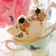 QUEEN BEE bijou pierce♡針がゆらゆら蜂さんビジューピアス♡送料無料