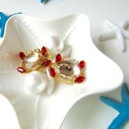 cutie crab bijou pierce♡可愛いカニさんビジューピアス♡