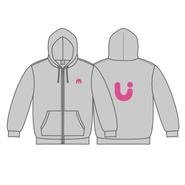 UUUM パーカー(印刷色:ピンク)【3月下旬〜発送】