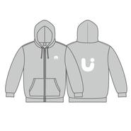 UUUM パーカー(印刷色:白)【3月下旬〜発送】