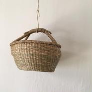 ベトナムのまるっこい手づくりかご handmade シーグラス ラウンド バスケットA  Sサイズ  AS-12