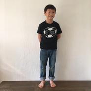 ▲送料無料 120サイズ/半そで uyoga enjoy soccer Tシャツ 5.6oz ブラック