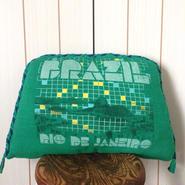 nekotani made「nekotani クッション」 used Tシャツ リメイク クッション「ブラジル」BRAZIL
