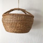 ベトナムのまるっこい手づくりかご handmade シーグラス ラウンド バスケットA Lサイズ AL-14