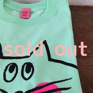 ▲送料無料 140サイズ/半そで ねこもぐらさんTシャツ 5.6oz uyoga cat mole メロン ほっぺあり 612番目のねこもぐらさん