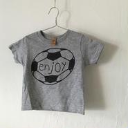 ▲送料無料 80サイズ/半そで uyoga enjoy soccer TシャツR 5.5oz  ダークヘザー (グレー)