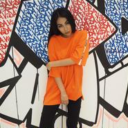 ViiDA  LOGO TAPE TEE(orange)