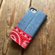 Bandanna/Chambray  iPhone6/6s & 7/7s Case, Red
