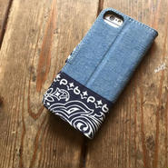 Bandanna/Chambray  iPhone6/6s & 7/7s Case, Navy