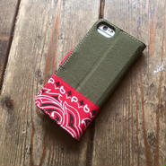 Bandanna x O.D. Green  iPhone6/6s & 7/7s Case, Red