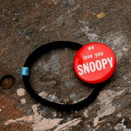 """Message Pin Hair Elastic """"We Love You Snoopy"""""""