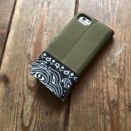 Bandanna x O.D. Green  iPhone6/6s & 7/7s Case, Black