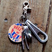 Old US Army Fork Keychain