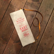 Vintage Lead Shot Pouch, Red Olin