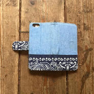 旧モデルサンプルSALE!!Bandanna x Chambray  iPhone6/6s Case, Black