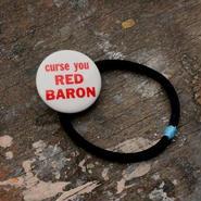 "Message Pin Hair Elastic ""Curse you Red Baron"""