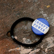 """Message Pin Hair Elastic """"Snoopy Power"""""""