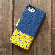 Vintage Denim + Vintage Feedsack iPhone6/6s&7 Case