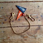 Brass Wallet Chain + D.S. Bakelite Dice