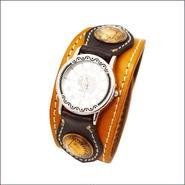 レザーリストウォッチ 牛革 腕時計 オールド1pennyコンチョ 10006855