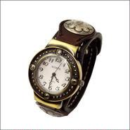 レザーリストウォッチ  牛革 腕時計 ブラック シルバーコンチョ 10006669