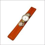 レザー(牛革)×パイソン カービングクラフト腕時計 (リストウォッチ)ラインストーンフェイス 10003673