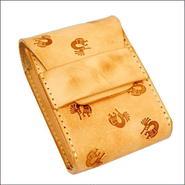 ココペリ型スタンピング 焦がしレザー(牛革)たばこケース(シガレットケース) ヌメ革 10007821