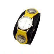レザー(牛革) 水蛇  腕時計 (リストウォッチ) 5セントコンチョ 10006854