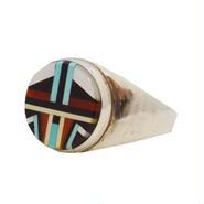 シルバー925 リング インディアンジュエリー・ズニ族 シルバーリング 24号 指輪 メンズ レディース 10006056