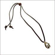 キノコ ガラストップ ネックレス A レザーチョーカー ヒッピー  10007915