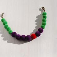 ベロア羽織紐(紫×緑)