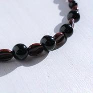 【男性】珈琲豆の羽織紐(ブラック)