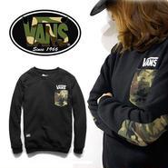 数量限定 【VANS】 バンズ 長袖Tシャツ男女兼用激安セール [VS-04]