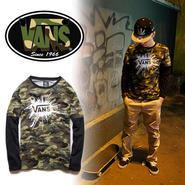 数量限定 【VANS】 バンズ 長袖Tシャツ男女兼用激安セール [VS-05]
