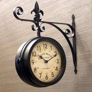 【壁掛両面時計】ステーションクロック[ウォール(L)]