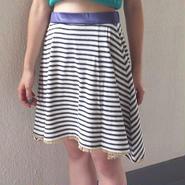 WOTA original Border Frill Skirt black