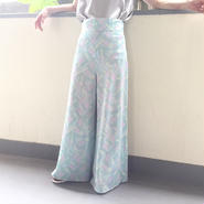 Used printed wide pants